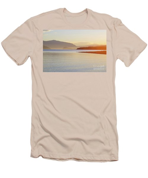 Sunset In The Mist Men's T-Shirt (Slim Fit) by Victor K