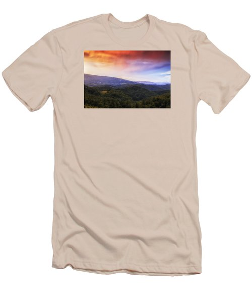 Men's T-Shirt (Slim Fit) featuring the photograph Sunset View Of The Blue Ridge by Andrew Soundarajan