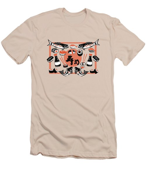Sushi And Soy Sauce Men's T-Shirt (Athletic Fit)