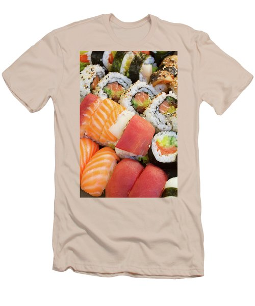 Sushi Dish Men's T-Shirt (Slim Fit) by Anastasy Yarmolovich
