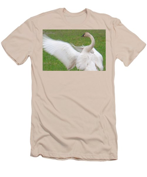 Swan Posing Men's T-Shirt (Slim Fit) by Karen Molenaar Terrell