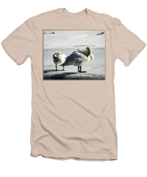 Swans On Ice Men's T-Shirt (Athletic Fit)