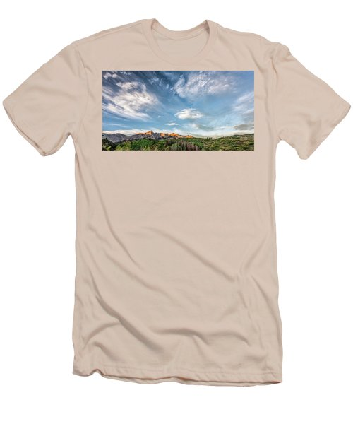 Men's T-Shirt (Slim Fit) featuring the photograph Sweeping Clouds by Jon Glaser