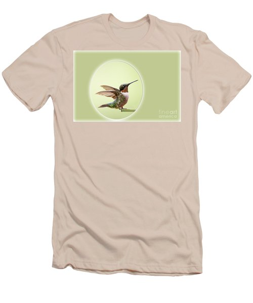 Men's T-Shirt (Slim Fit) featuring the photograph Sweet Little Hummingbird by Bonnie Barry