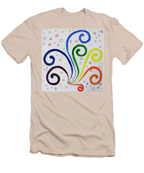 Men's T-Shirt (Slim Fit) featuring the painting Swirls by Sonali Gangane