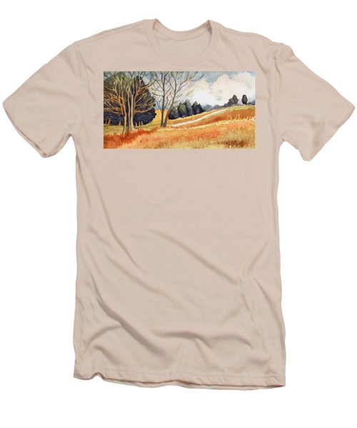 Men's T-Shirt (Slim Fit) featuring the painting Switchboard Rd by Katherine Miller