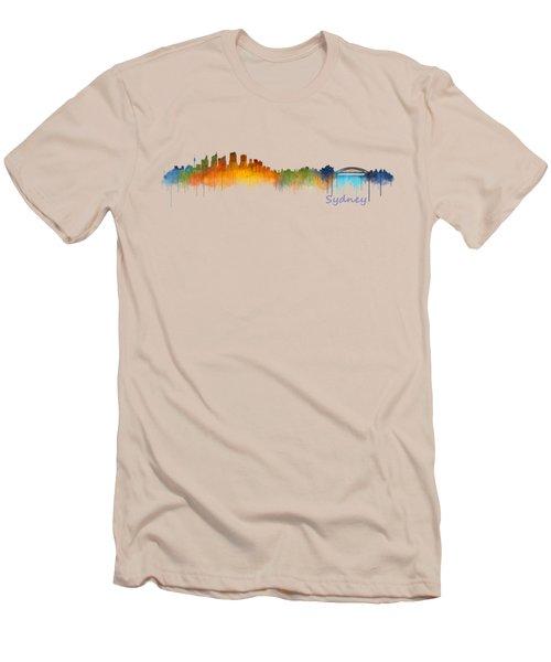Sydney City Skyline Hq V2 Men's T-Shirt (Athletic Fit)