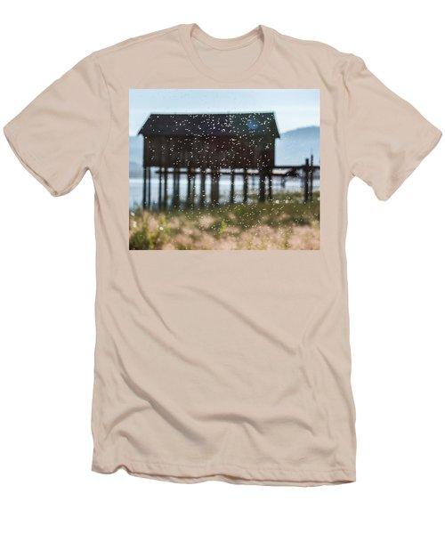 Tahoe Boat House Flies Men's T-Shirt (Athletic Fit)