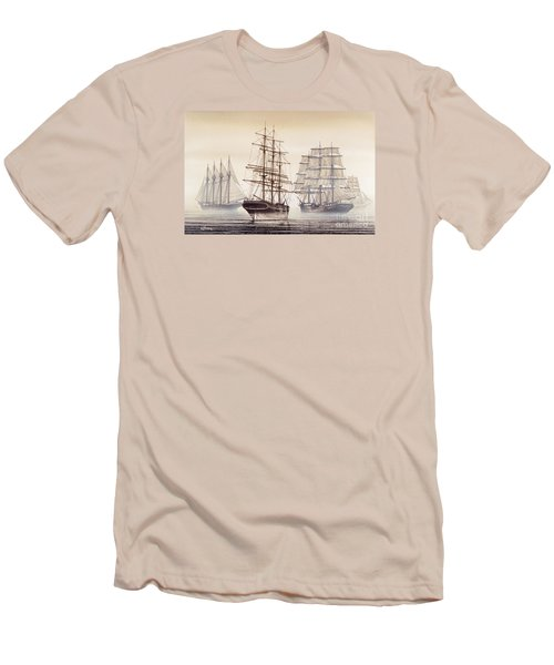 Tall Ships Men's T-Shirt (Slim Fit) by James Williamson