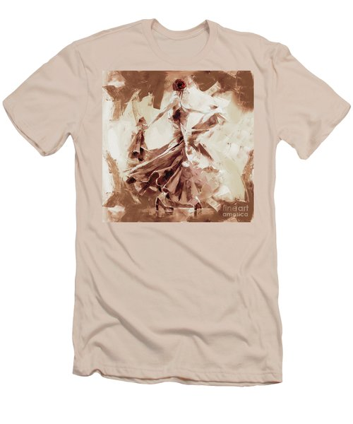 Men's T-Shirt (Slim Fit) featuring the painting Tango Dance 9910j by Gull G