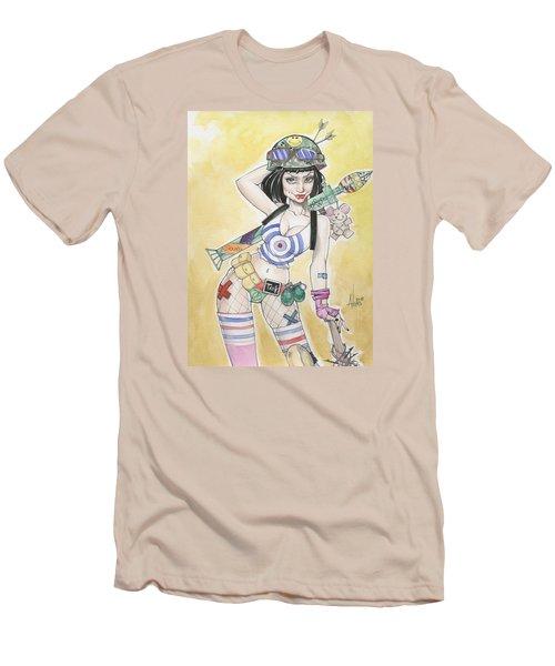 Tank Girl Men's T-Shirt (Slim Fit) by Jimmy Adams