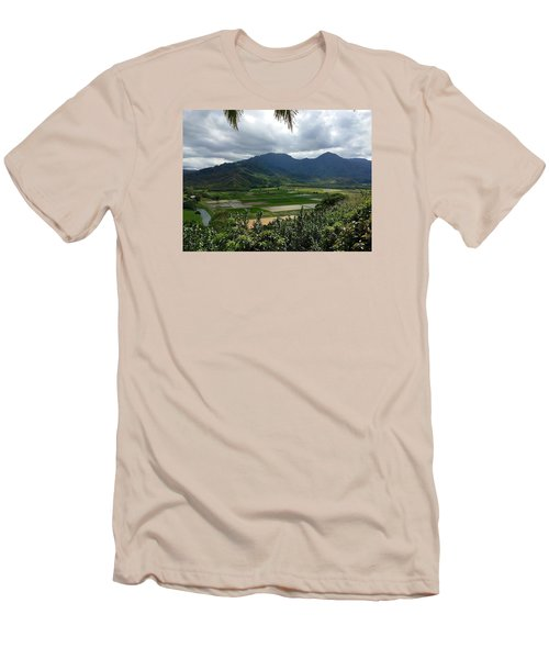Taro Fields On Kauai Men's T-Shirt (Slim Fit) by Brenda Pressnall