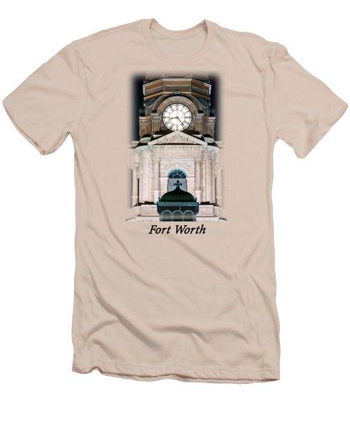 Tarrant County Clock T-shirt Men's T-Shirt (Athletic Fit)