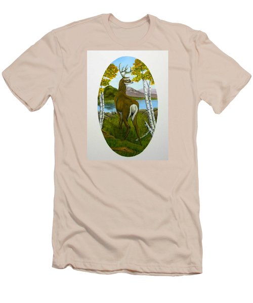 Teddy's Deer Men's T-Shirt (Athletic Fit)