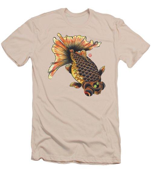 Telescope Goldfish Men's T-Shirt (Slim Fit) by Shih Chang Yang