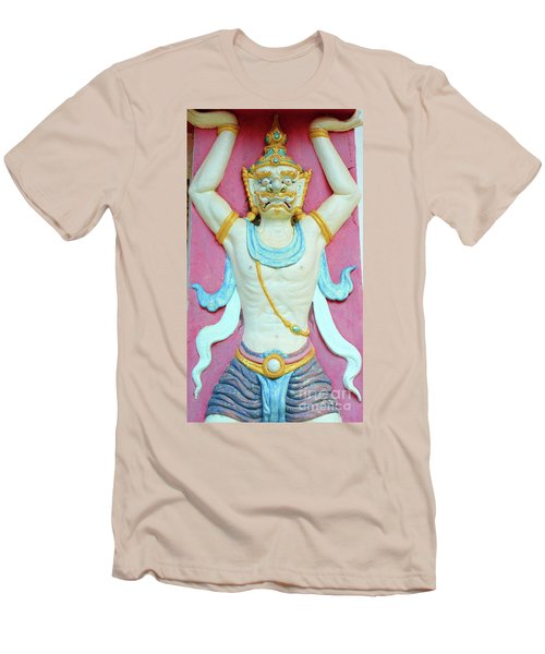 Temple Art In Thailand Men's T-Shirt (Athletic Fit)