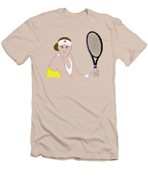 Tennis Player Men's T-Shirt (Slim Fit) by Priscilla Wolfe