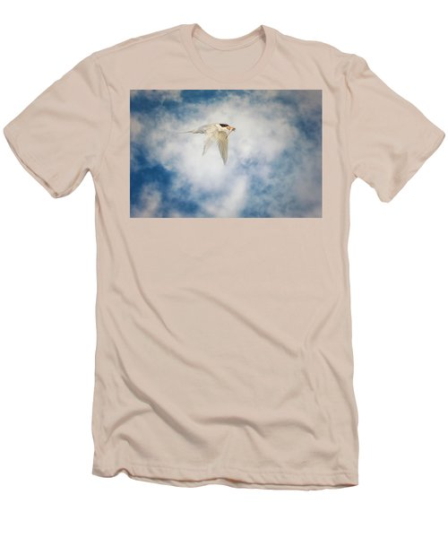 Tern In Flight With Fish Men's T-Shirt (Athletic Fit)