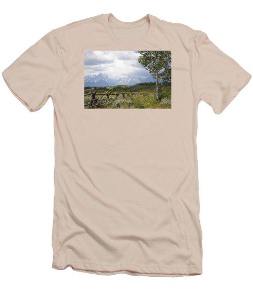 Teton Ranch Men's T-Shirt (Slim Fit) by Diane Bohna