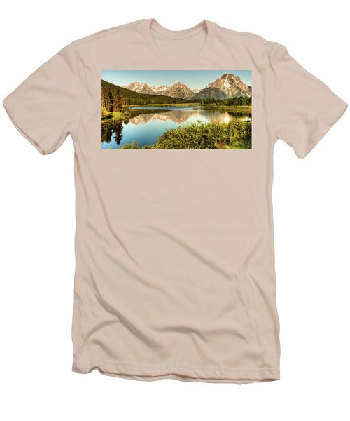 Men's T-Shirt (Slim Fit) featuring the photograph Teton Reflections by Rebecca Hiatt