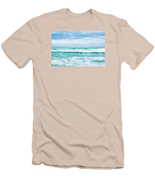Textures In The Waves Men's T-Shirt (Slim Fit) by Shelby  Young