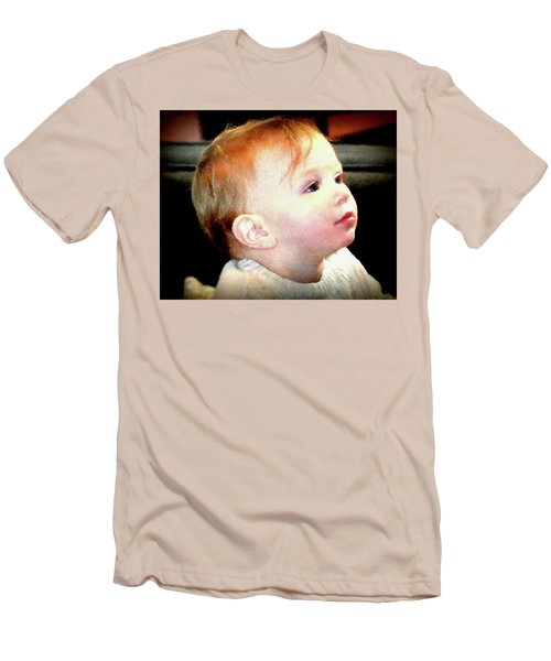 Men's T-Shirt (Slim Fit) featuring the photograph The Age Of Innocence by Barbara Dudley