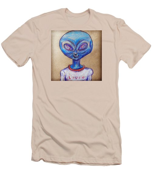 The Alien Is L-i-v-i-n Men's T-Shirt (Athletic Fit)