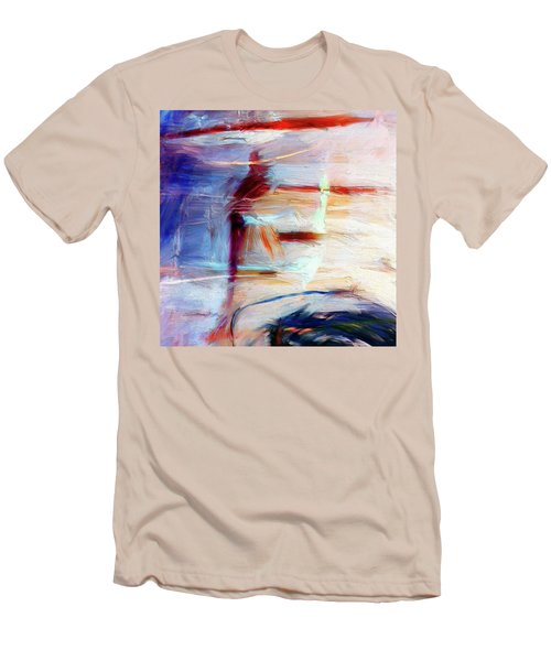 Men's T-Shirt (Slim Fit) featuring the painting The Auberge by Dominic Piperata