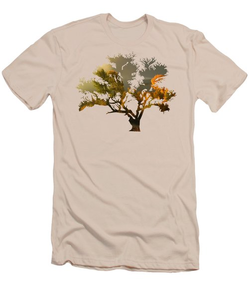 The Autumn Tree Men's T-Shirt (Athletic Fit)