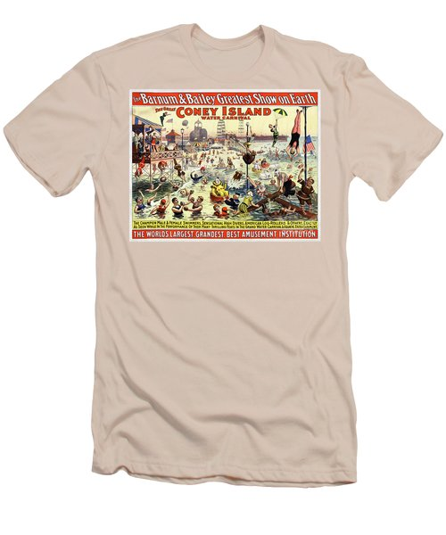 The Barnum And Bailey Greatest Show On Earth The Great Coney Island Water Carnival Men's T-Shirt (Athletic Fit)