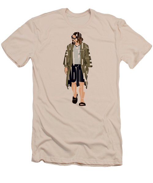 The Big Lebowski Inspired The Dude Typography Artwork Men's T-Shirt (Athletic Fit)