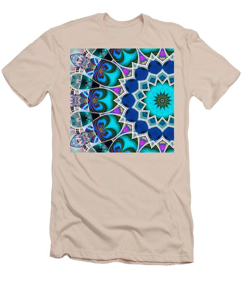Men's T-Shirt (Slim Fit) featuring the digital art The Blue Collective 01b by Wendy J St Christopher