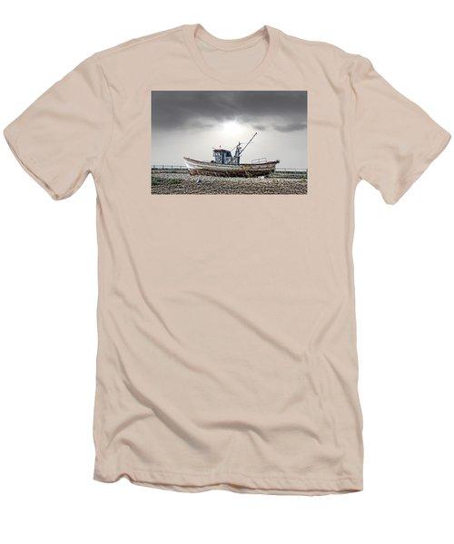 Men's T-Shirt (Slim Fit) featuring the photograph The Boat by Angel Jesus De la Fuente