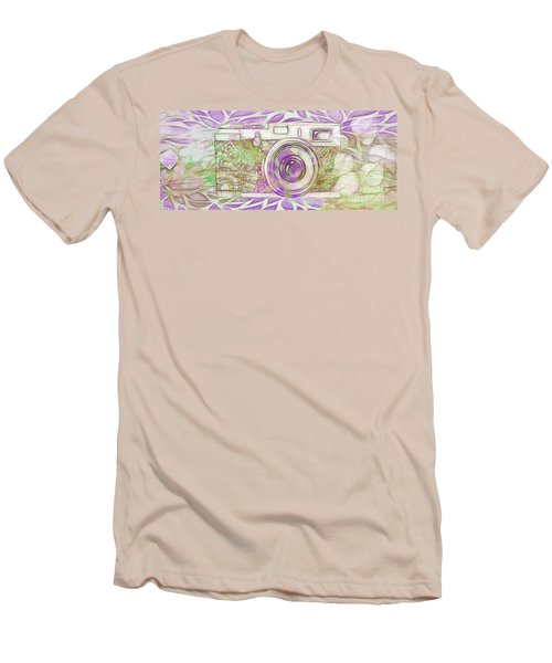 Men's T-Shirt (Slim Fit) featuring the digital art The Camera - 02c6 by Variance Collections