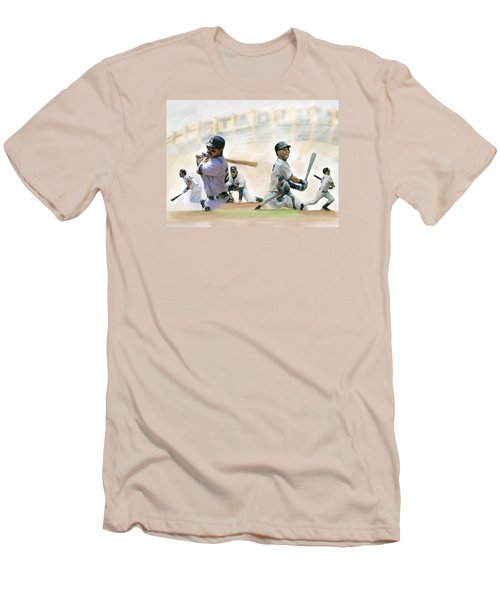 The Captains II Don Mattingly And Derek Jeter Men's T-Shirt (Slim Fit) by Iconic Images Art Gallery David Pucciarelli
