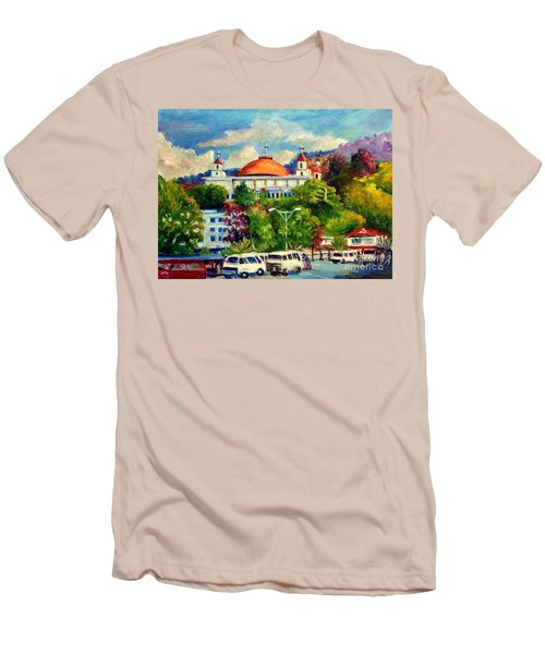 The Central Taxi Terminal In Jayapura Men's T-Shirt (Athletic Fit)