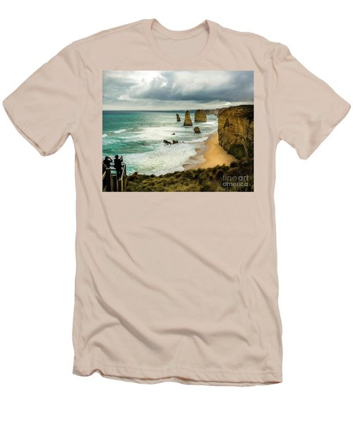 Men's T-Shirt (Slim Fit) featuring the photograph The Coast by Perry Webster