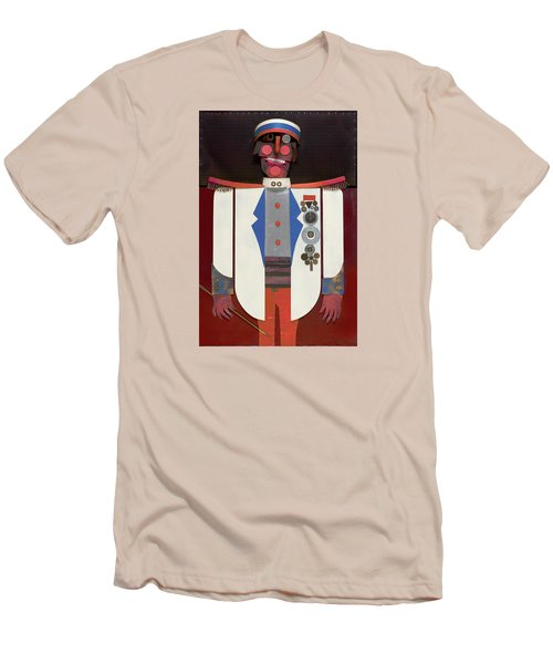 Men's T-Shirt (Slim Fit) featuring the painting The Commander by Bob Coonts