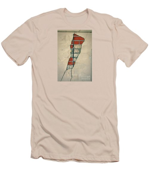 The Cracked Wall Men's T-Shirt (Slim Fit) by Nareeta Martin