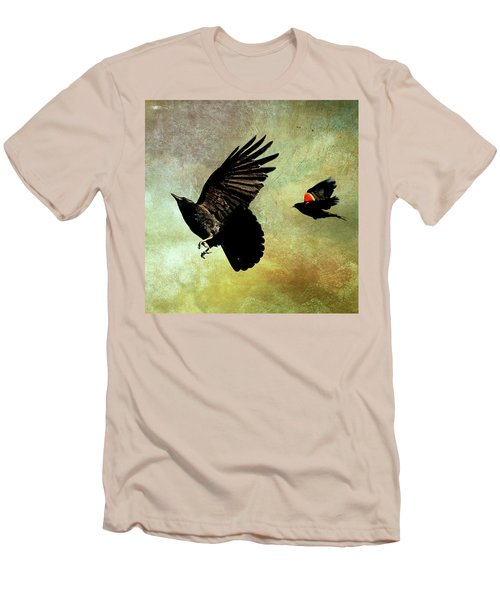 The Crow And The Blackbird Men's T-Shirt (Slim Fit) by Peggy Collins