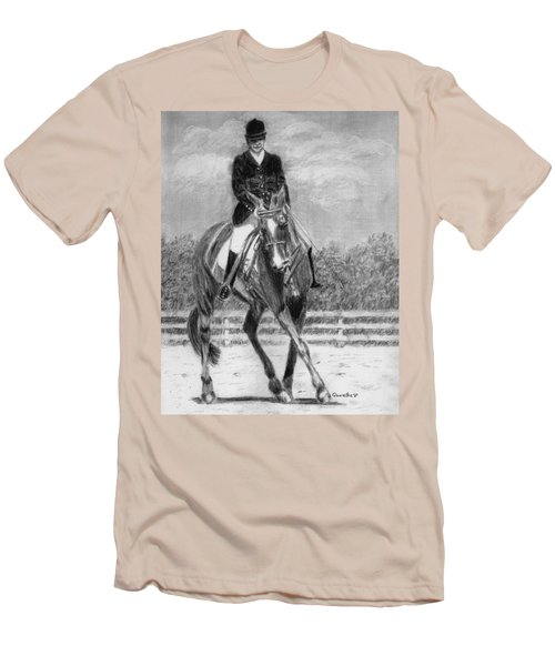 Men's T-Shirt (Slim Fit) featuring the drawing The Dance by Quwatha Valentine