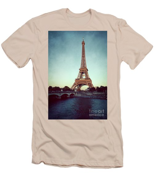 Men's T-Shirt (Slim Fit) featuring the photograph The Eifeltower by Hannes Cmarits