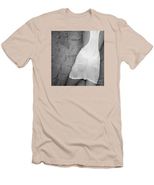 Men's T-Shirt (Slim Fit) featuring the photograph The Figure Of A Young Girl In A Wet Dress. by Andrey  Godyaykin