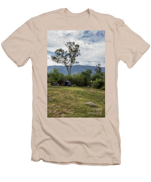Men's T-Shirt (Slim Fit) featuring the photograph The Good Life by Linda Lees