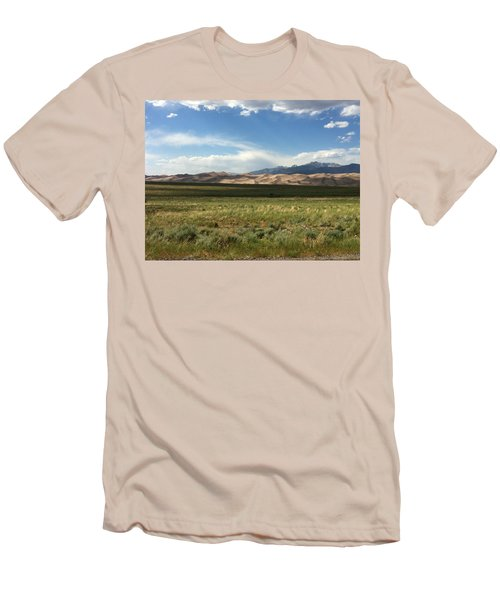 Men's T-Shirt (Slim Fit) featuring the photograph The Great Sand Dunes by Christin Brodie