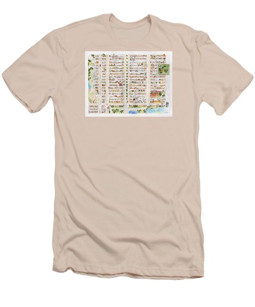 The Harlem Map Men's T-Shirt (Slim Fit) by AFineLyne