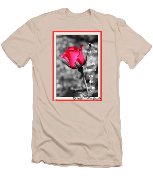 Men's T-Shirt (Slim Fit) featuring the digital art The Journey Begins by Holley Jacobs