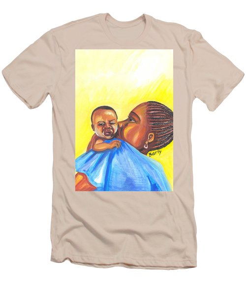 The Kiss Of A Mother In Senegal Men's T-Shirt (Slim Fit) by Emmanuel Baliyanga