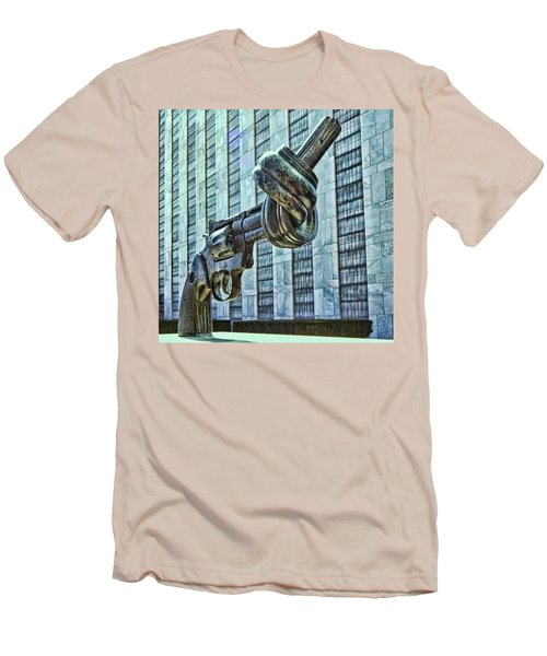 The Knotted Gun Men's T-Shirt (Slim Fit) by Allen Beatty
