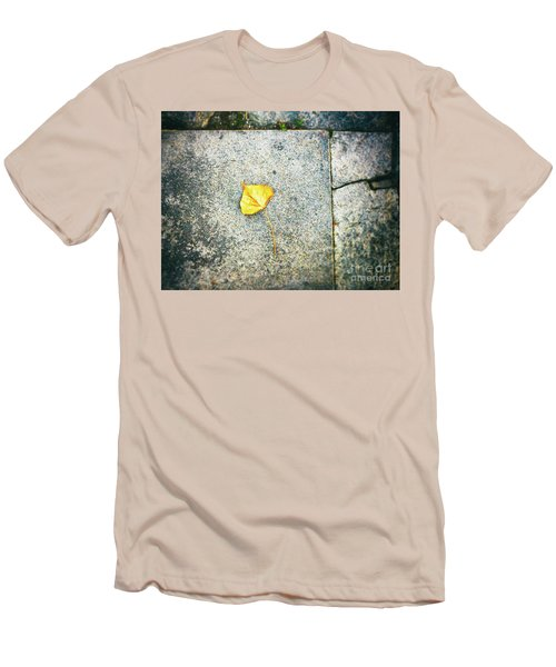 Men's T-Shirt (Athletic Fit) featuring the photograph The Leaf by Silvia Ganora